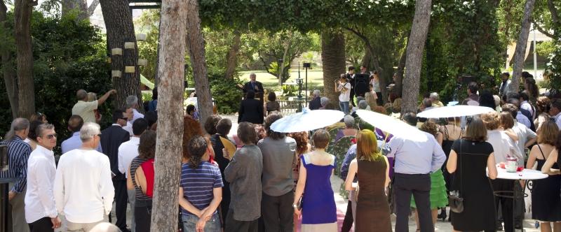 Alquería del Pi-Valencia-Alquería-boda-aire libre-decoración-naturaleza-natural-sombrillas