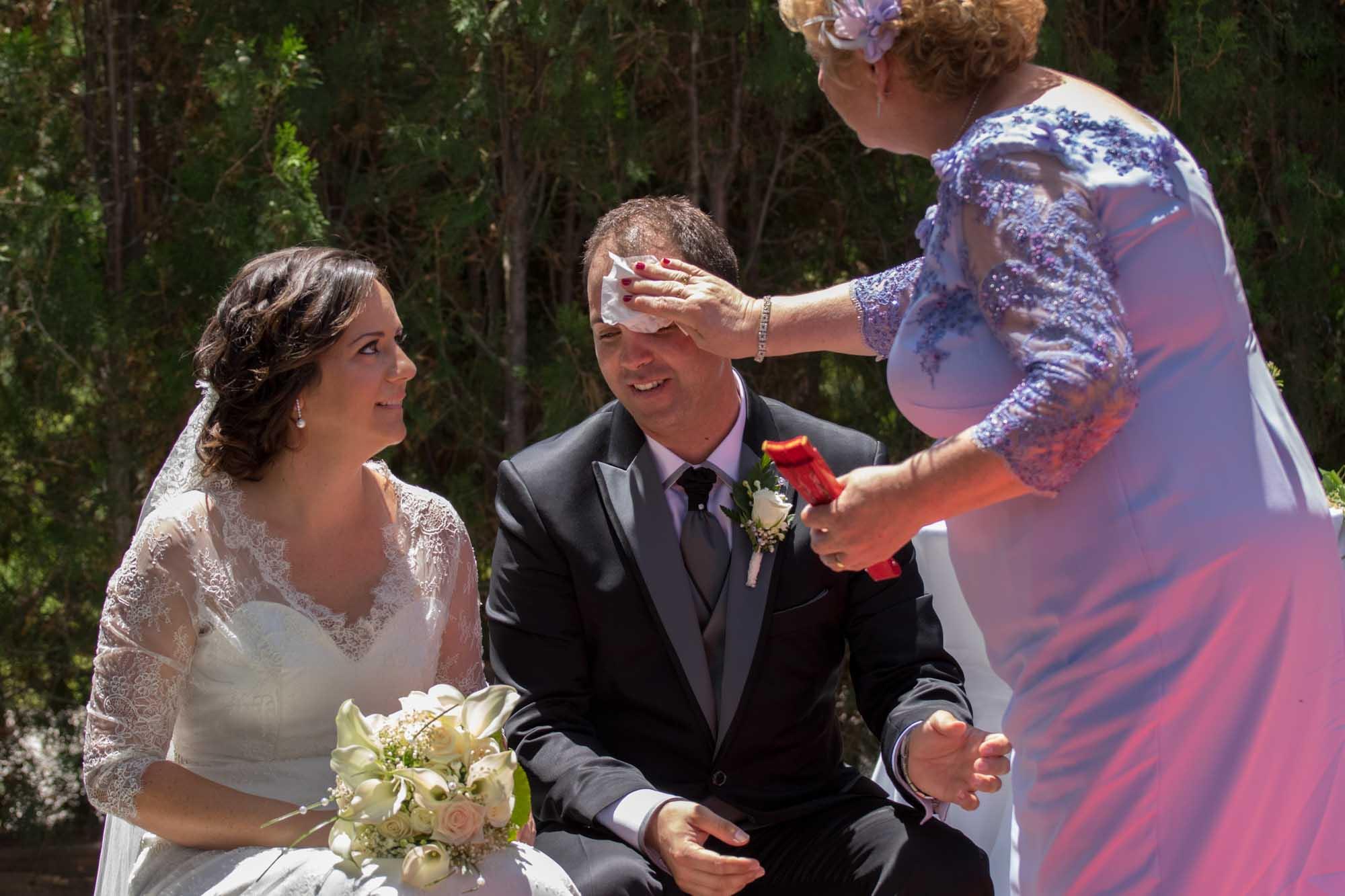el calor en tu boda