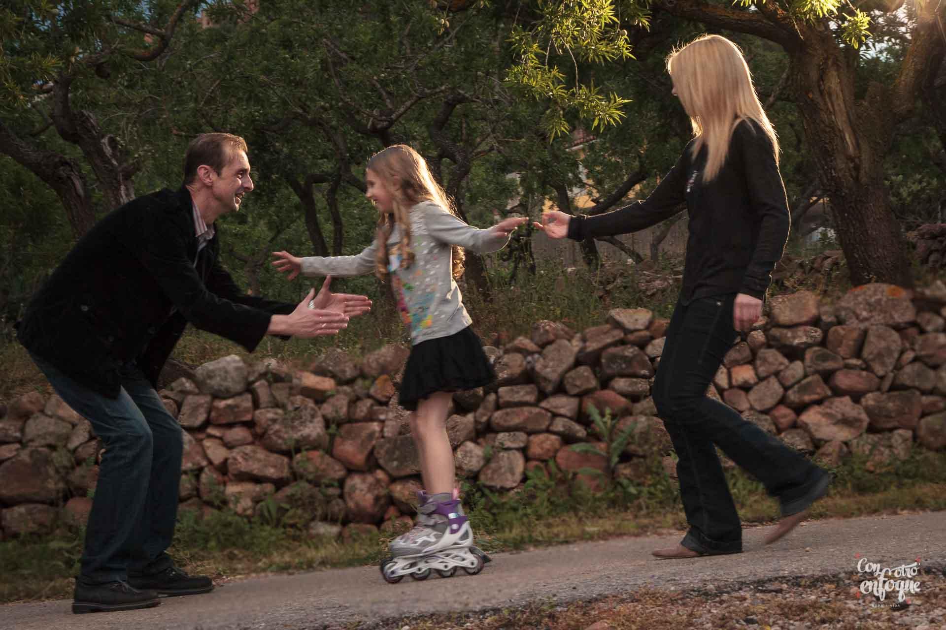 familia en reportaje de fotos en Valencia