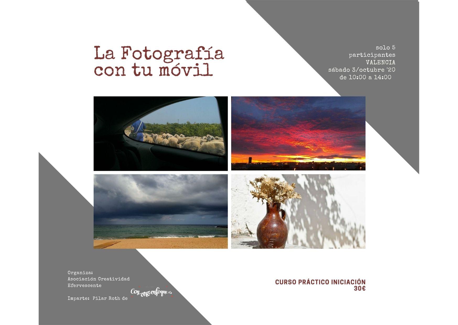 curso Fotografía con móvil en Valencia en sábado octubre