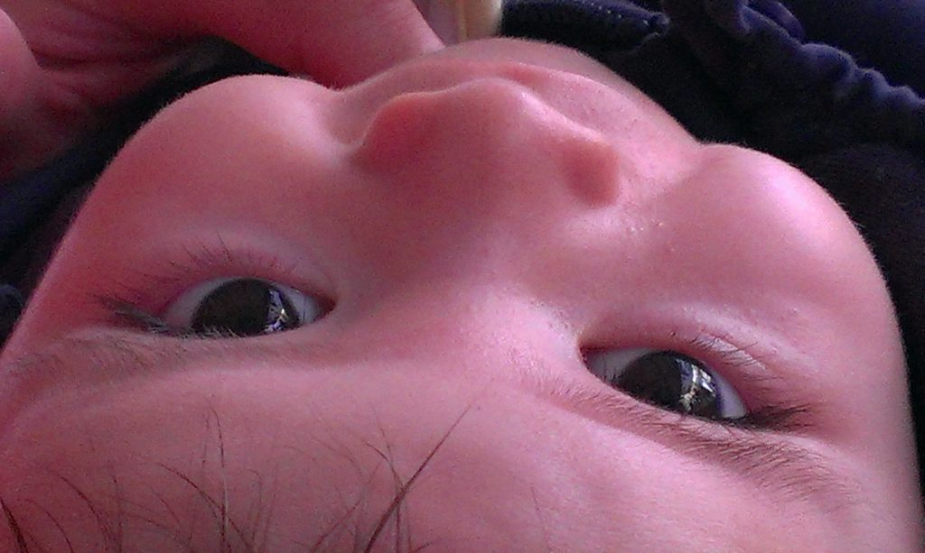 foto infantil bebe primer plano
