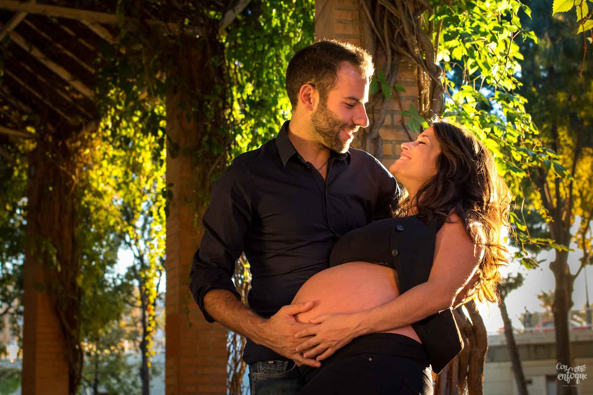 fotos cauce río embarazo en Valencia