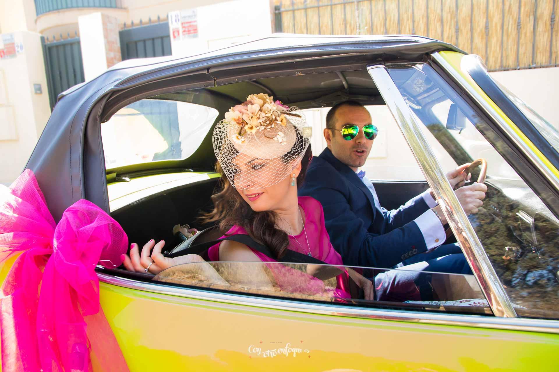 boda civil en Valencia. De camino a la boda