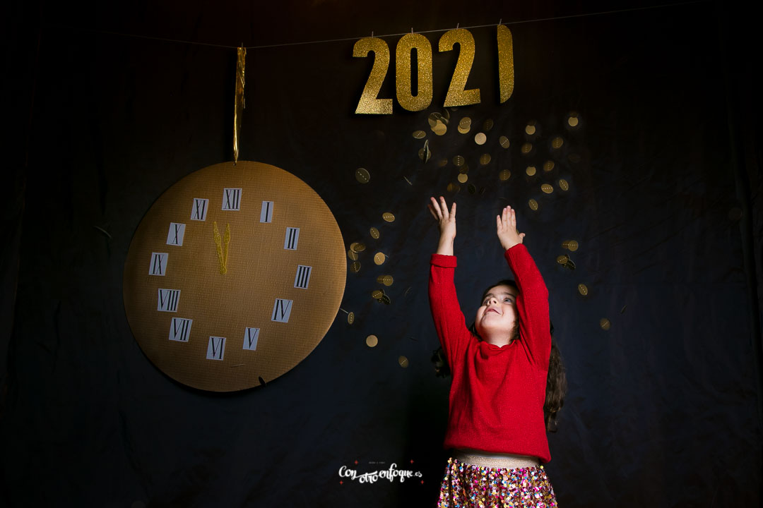 Feliz año 2021 Fotos de estudio para peques en Valencia